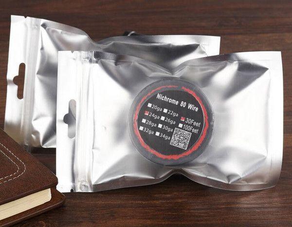 Resistencia Nichrome 80 alambre de calefacción Bobinas Wick 30 pies Spool AWG 20 22 24 26 28 Calibre para DIY Reconstruible RDA RBA Atomizador