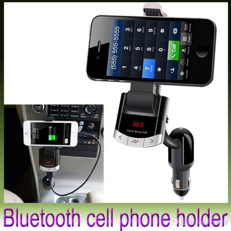 2016 Bluetooth Car Kit Phone Mount Holder USB Cargador FM Transmisor MP3 Player Color negro BT8118