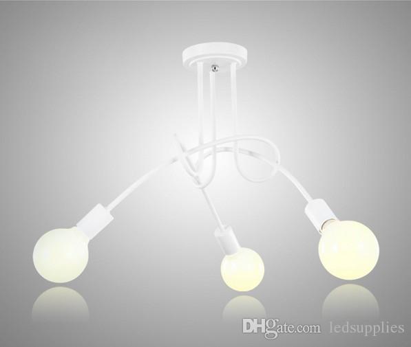 Plafond lumineux moderne nordique Simple personnalisé Creative Lampes Nordic restaurant Chambre Salon Matériau Métal Fer