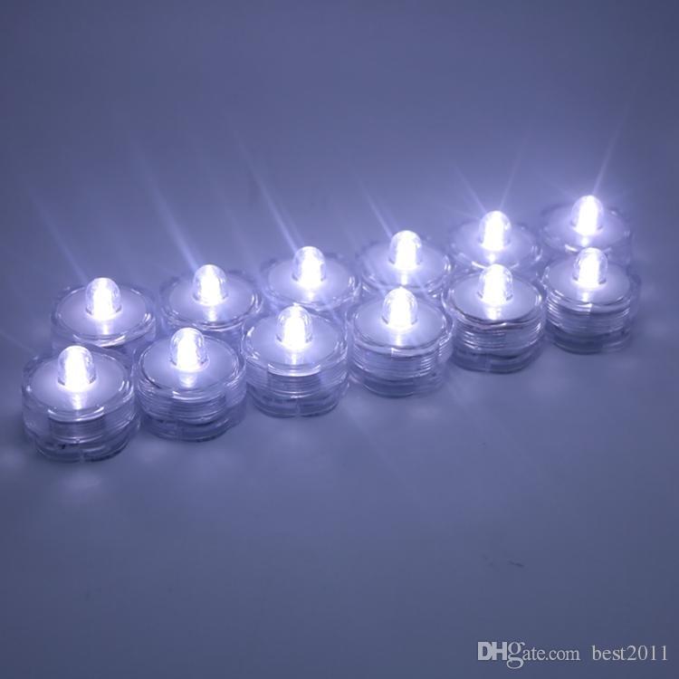 Submersible Flower Shaped 1 LED Tea Light Floral lamp Wedding Party Centerpiece Decor Candle Vase Tea Light