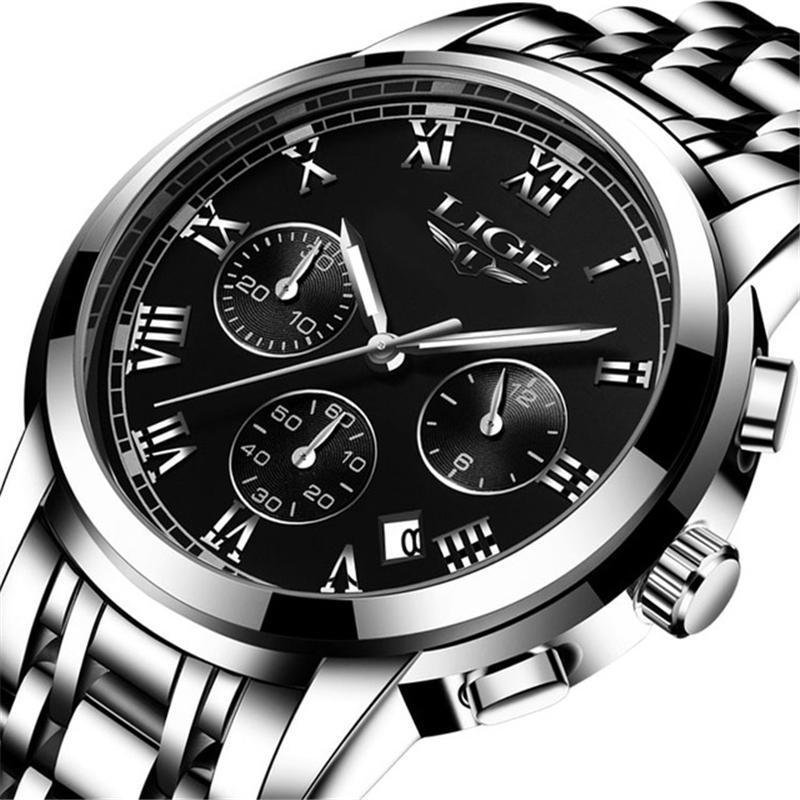 Compre Relojes Para Hombre De Lujo Top Brand Cronógrafo De Reloj Para Hombre  Grande Reloj Estampado Relojes Impermeables De Alta Calidad Reloj De Cuarzo  A ... 123f2165ae23