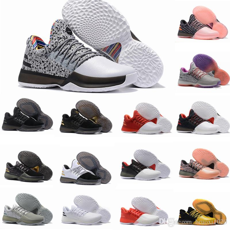 7d54cd4baad5 2017 new harden vol. 1 mens basketball shoes black white orange wholesale  fashion james harden