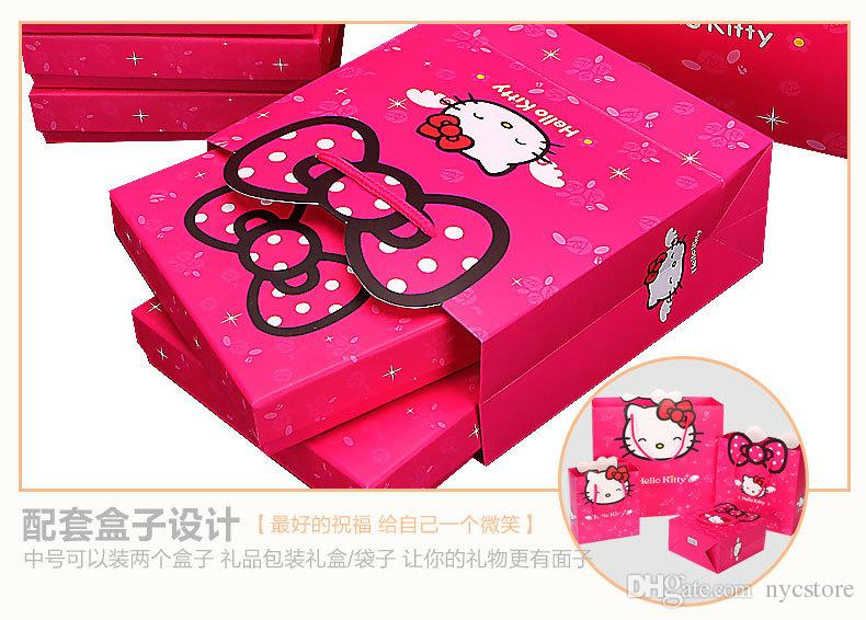 14*15*7cm Hello Kitty Style Paper bags Gift Boxes Candy Bags Birthday Wedding Party Favors Christmas Gift Bags