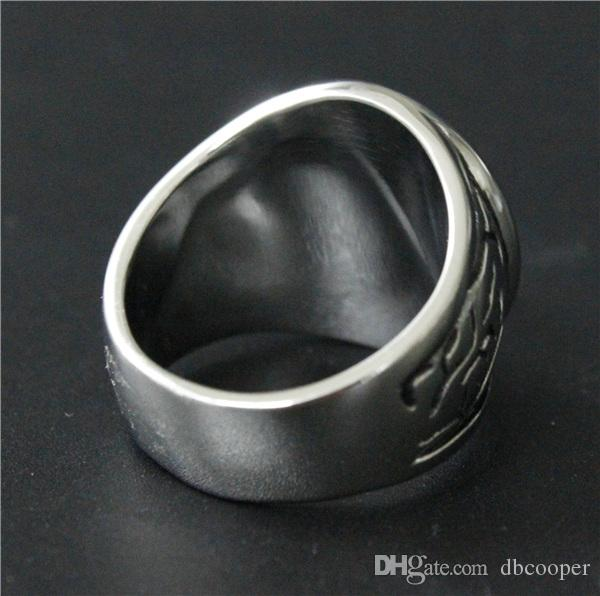 Size 7-14 Mens Womens 316L Stainless Steel Jewelry Heavy Cross Ring Good Quality Special New Biker Ring