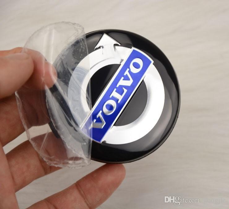 20 unids / lote 64 mm VOLVO negro centro de la rueda tapa tapas del borde del casquillo cubre emblema insignia para Volvo S40 S60 S80L XC60 XC90,3546923