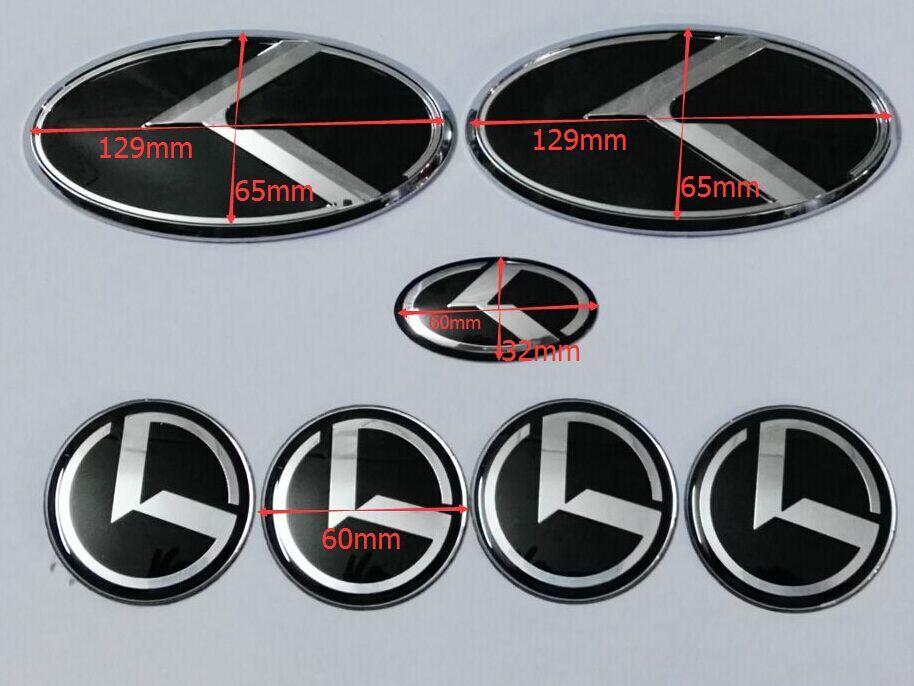 nueva K negro del logotipo del emblema insignia para KIA Forte YD K3 2014 emblemas 2015 / etiqueta engomada del coche / 3D