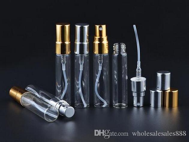 공장 가격 5ml를 분무기 미세 미스트 유리 병은 DHL 무료 배송으로 리필 향수 빈 향기 병 / 많은 스프레이