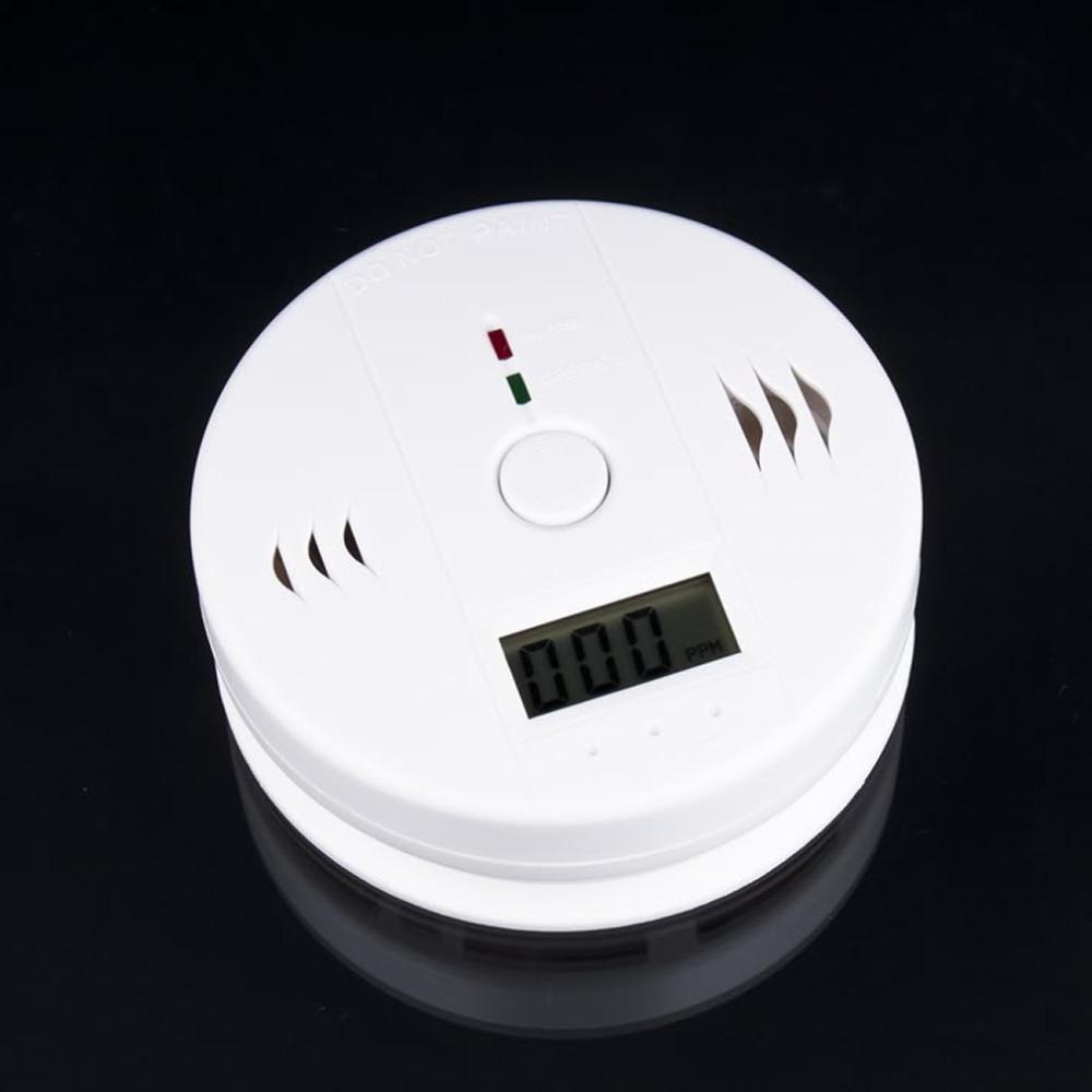 Alta calidad Pantalla LCD Seguridad para el hogar CO Monóxido de carbono Envenenamiento Humo Gas Sensor Advertencia de alarma Detector de cocina