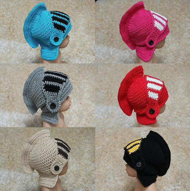 Novelty Family Hat Roman Knight Helmet Caps Knitted Warm Winter Mask Hats Father Baby Kids Mask Caps Christmas Hallowmas Beanie Headgear