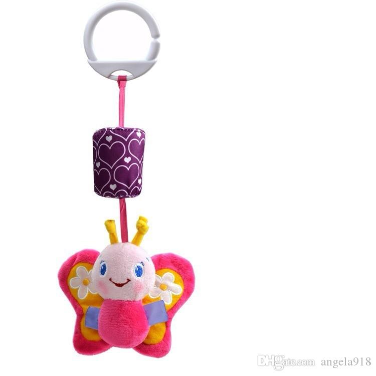 High Quality Baby Toy Bed Hanging Plush Doll Bell Wind Chimes Animal Wind Chime Rattles Infant Early Development Toy E1283
