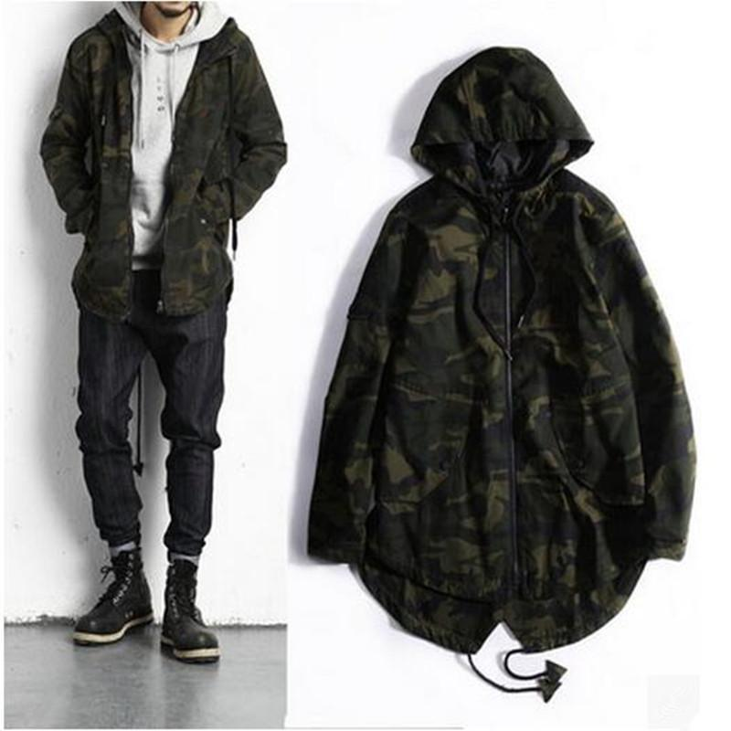 8c98aed866f Wholesale Streetwear 2017 Camouflage Jacket Men Causal Camo Long Hooded  Collar Outwear Jackets And Coats Mens Windbreaker Clothing Sale Jackets  Jackets And ...