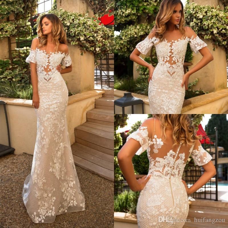 Gorgeous Milla Nova Mermaid Wedding Dress Off Shoulder Short ...