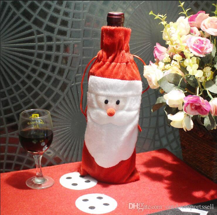 Christmas decorations Christmas Wine Set Creative Santa Claus Red Wine Gift Bags christmas bottle champagne 2018 wholesale in store dhl