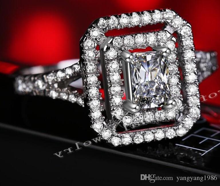 Victoria Wieck Luxus Schmuck Neueste 10KT Weißes Gold Füllte Weiß topaz Simulierte Diamant Hochzeit Engagement Frauen Band Ring Geschenk Größe 5-10