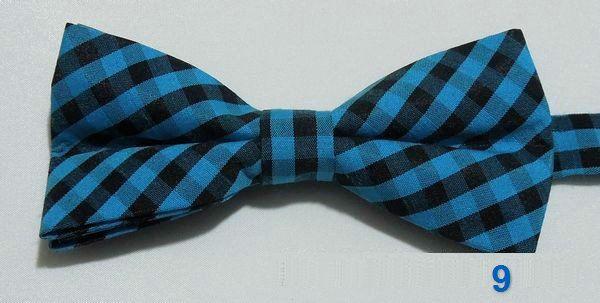 хлопок мужчины галстук-бабочка плед бантом регулируемые красочные взрослых бабочка украшенные галстуки Англия стиль 2 шт./лот