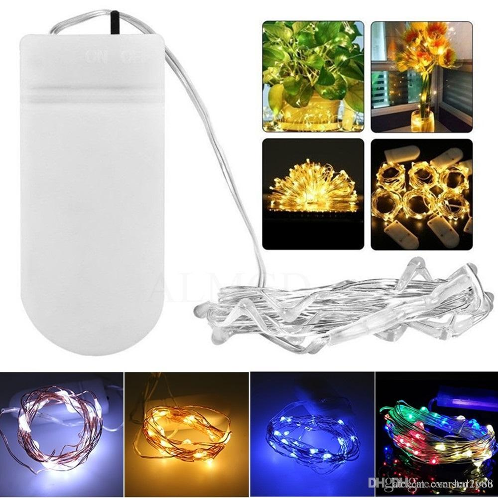 2m 3m 5m Led Fairy String Lights Battery Operated Changeable Firefly ...