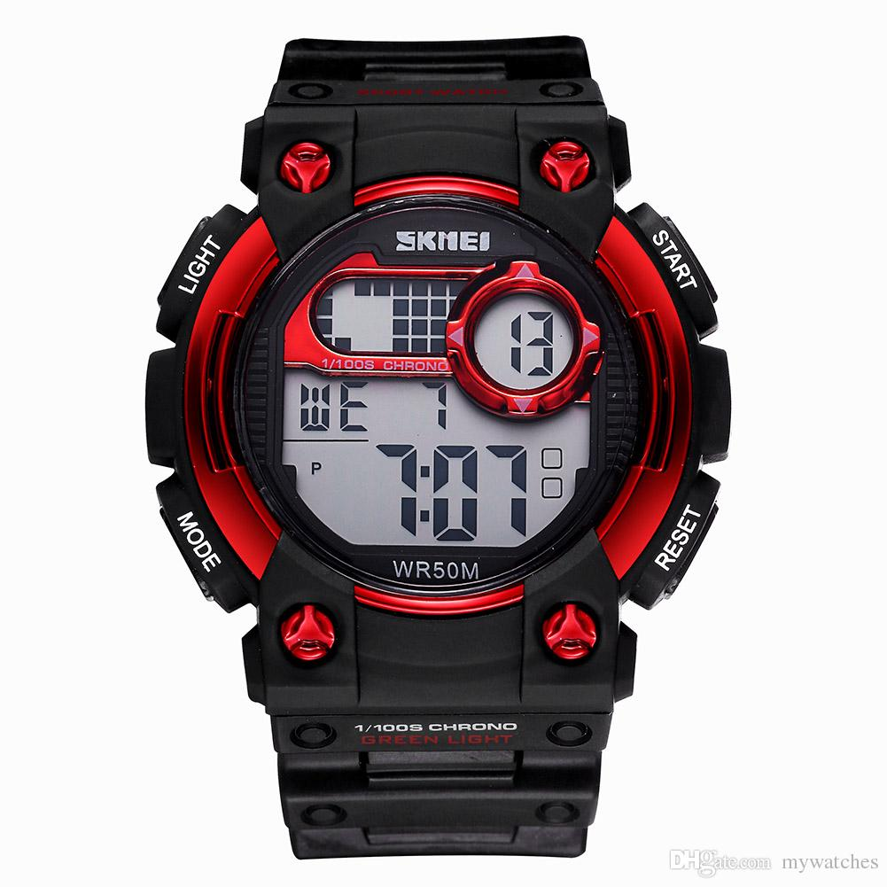 6fe2e7db2 SKMEI Popular Chronograph Silicone Men Sports Watches Boys Waterproof  Luminous Alarm Date Week Digital Watch Male Casual Military For Men s