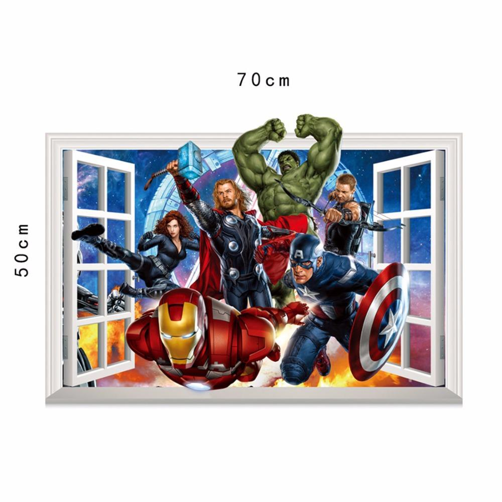 3d marvels the avengers vinyl wall stickers for kids room see larger image amipublicfo Image collections