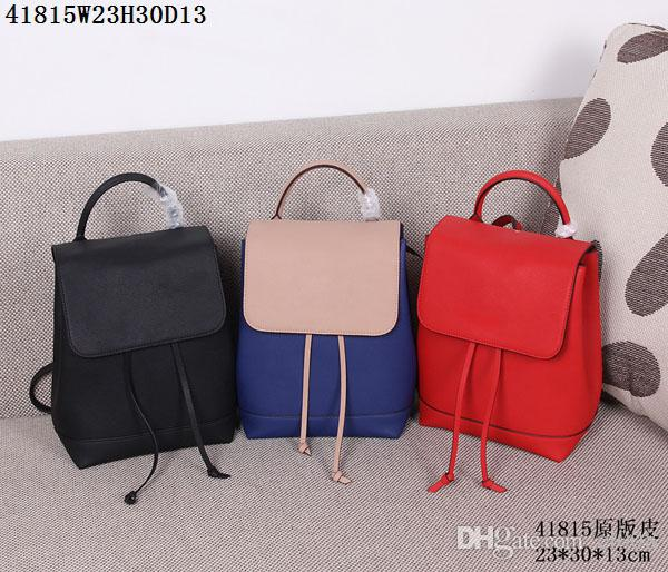 Latest leather backpack Ladies traveling casual backpacks 23*30*13cm inner pocket with zipper for mobile Ipad etc AAA leather abosutly cheap