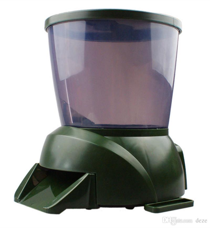 Stor kapacitet Digital Automatisk Fiskmatare - 4L Fiskmat Pond Akvarium Auto Holiday Koi Feed Timer Dispenser