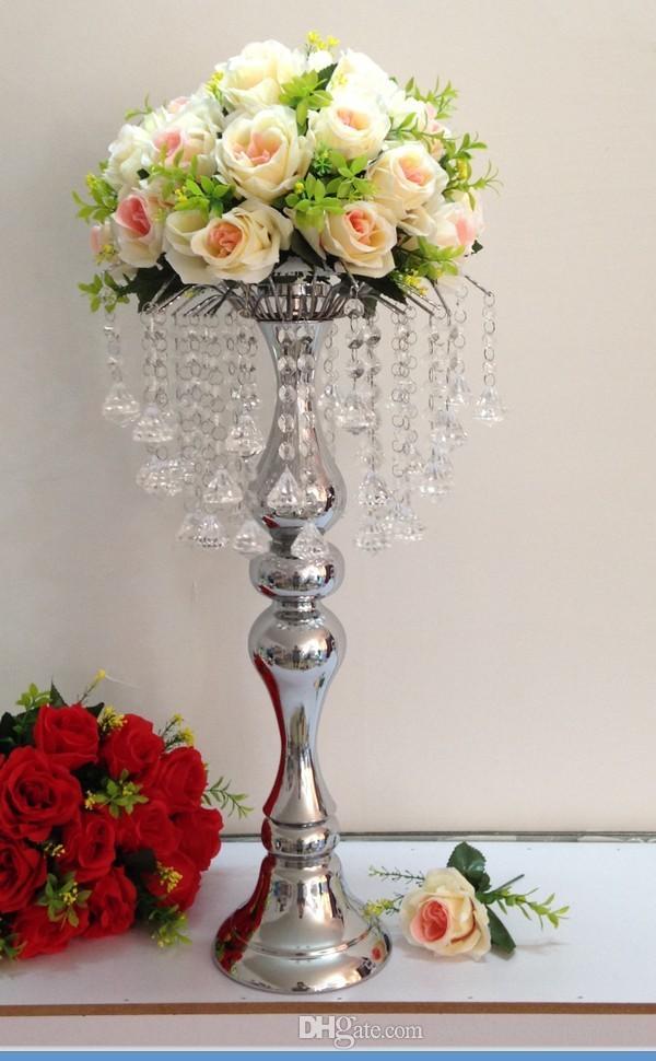 moderne romantische Hochzeit Dekoration Hochzeit Kandelaber Kristall Kerzenhalter Großhandel Kerzenhalter für Hochzeiten