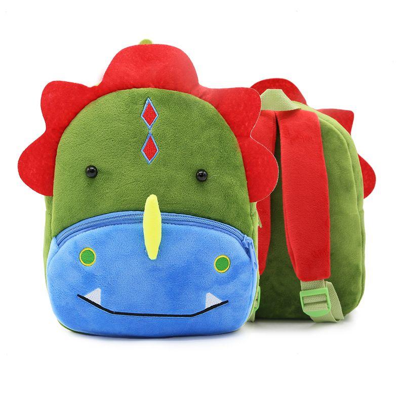 99c0d68271c6 Children Plush Backpacks Baby Bag 3D Ccartoon Dinosaur Kids School ...