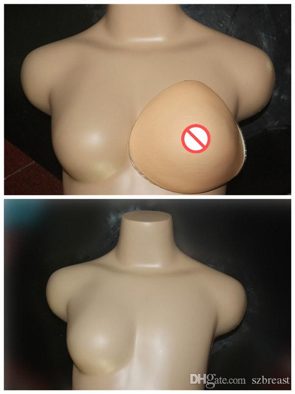 Lightweight form breast, lighter about 1/3 than the normal silicone, good for sports and swim fake breasts forms falses 200g/pcs