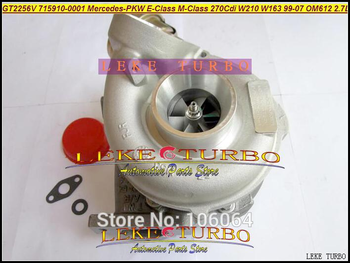 GT2256V 715910-5002S 715910 Turbo Turbocharger For Mercedes-PKW E-Class 270 CDI W210 M-Class W163 1999-07 OM612 2.7L 170HP (5)