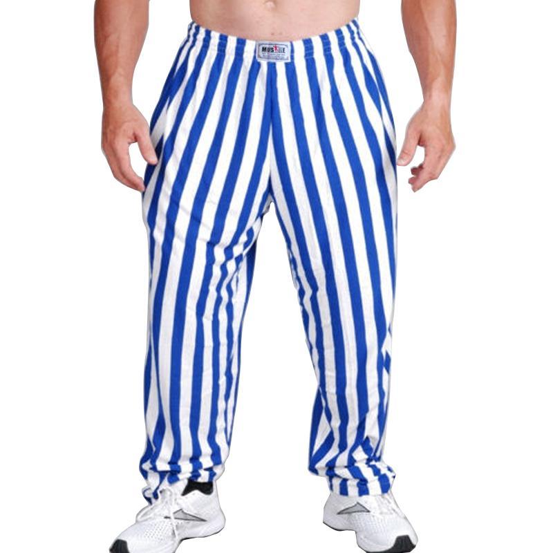 Compre Hombres Profesionales Pantalones Holgados Sportwear Culturismo  Suelta Entrenamiento Pantalón Informal Lycra Algodón Fitness Joggers A   15.75 Del ... a316602d4ddc3