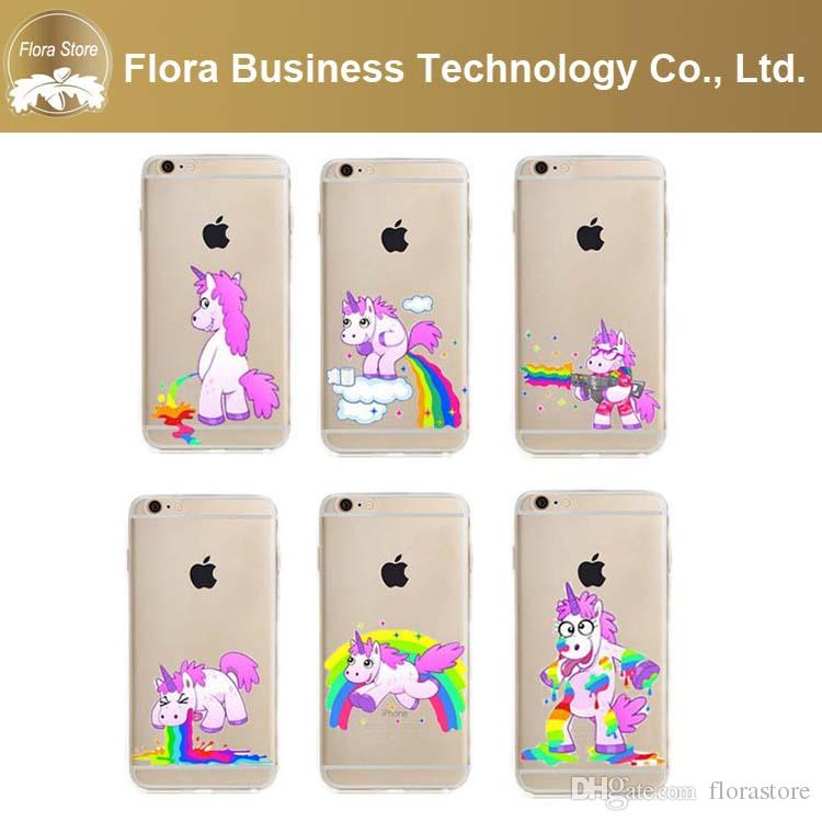 iphone 6 cases for girls 6 style pink unicorn phone cover clear tpu 1624