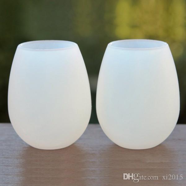 Taças de vinho de silicone 11 oz / 350 ml copos de vinho de viagem de viagem