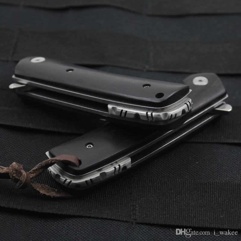 7Cr17Mov Hight Quality Stainless Steel Wooden Folding Pocket Knife with Mirror Polished 440c Blade for Hunting Camping Survival EDC