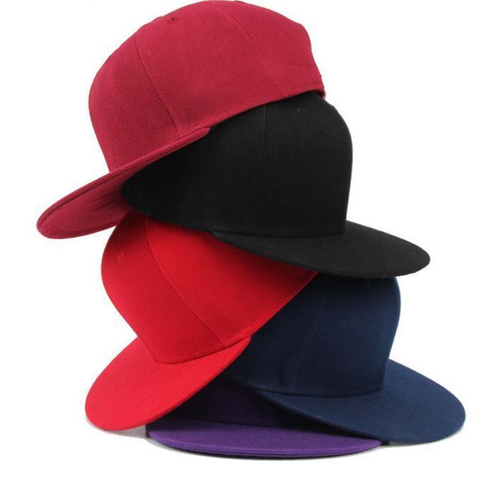 Mode Blanc Uni Snapback Chapeaux Unisexe femmes Hommes Hip-Hop réglable bboy sport Baseball Cap chapeau de soleil coloré Accessoires De Mode cadeau