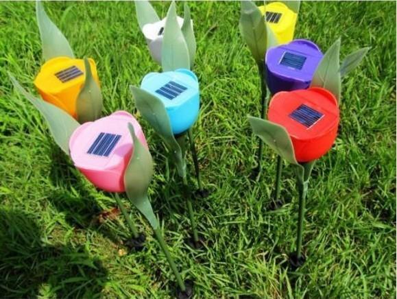 Lampada Fiore Tulipano : Acquista lampada solare esterna del fiore del fiore del tulipano di