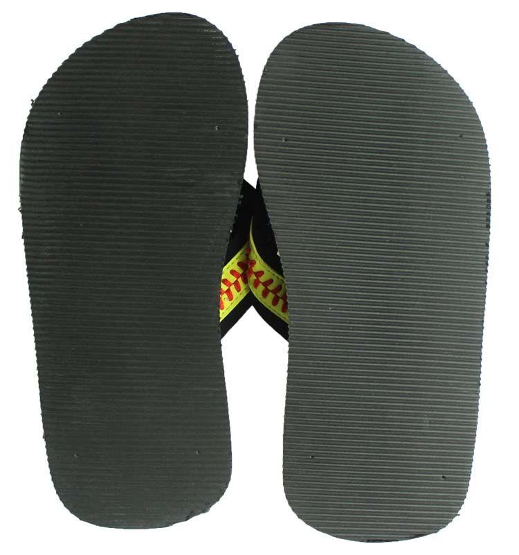 2018 yellow softball flip flop Baseball white leather sandals rhinestone decals big flower shape men beach sports sandals
