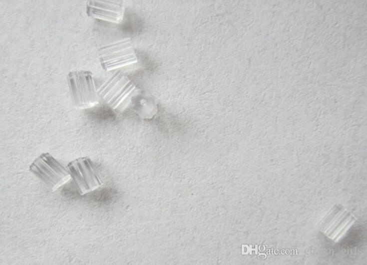 2018 vendita calda 4mm prugna trasparente orecchio orecchio tappi di gomma orecchio orecchini accessori accessori anti allergia orecchino 500 pz / lotto
