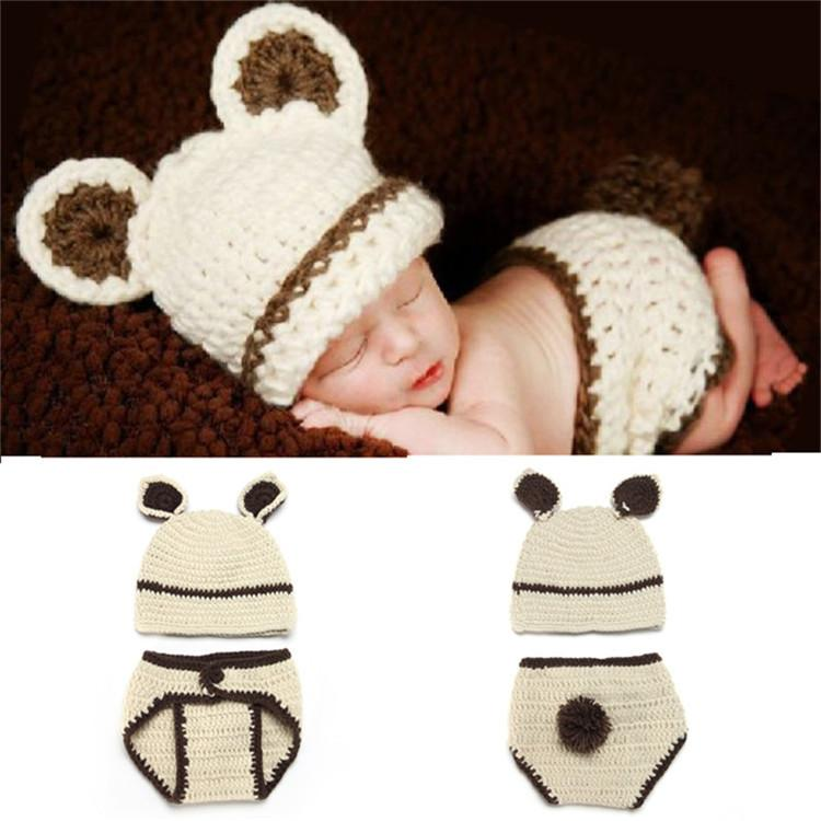 Großhandel Baby Kostüm Häkeln Baby Mütze Neugeborenen Baby Kaninchen ...