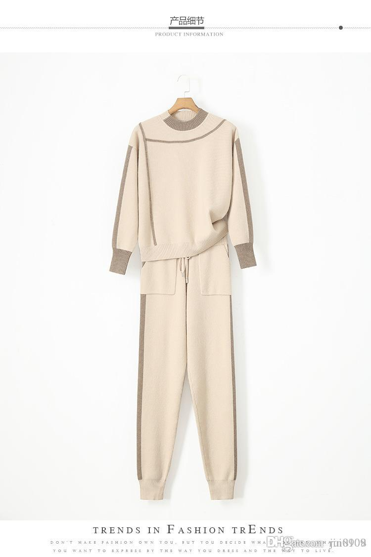 dee258012a4c61 Tracksuits Rushed Wool Bamboo Fiber Full O-neck Drawstring Winter ...