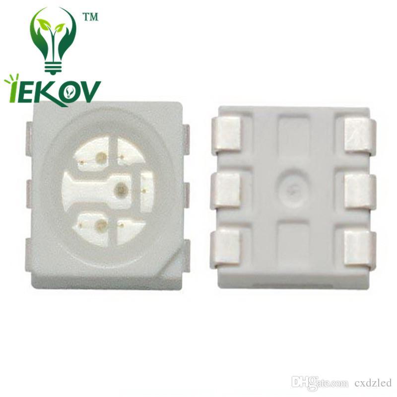 La haute qualité PLCC-6 5050 SMD a mené la diode lumineuse lumineuse superbe 620-630nm pour le vélo DIY SMD / SMT puce perle de lampe
