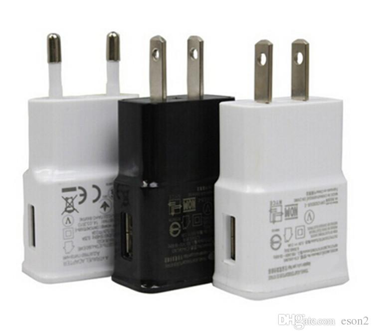 2 em 1 kits carregadores de parede da UE US Início carregador de parede Adaptador + Micro cabo de dados USB para Samsung Galaxy S4 S5 S6