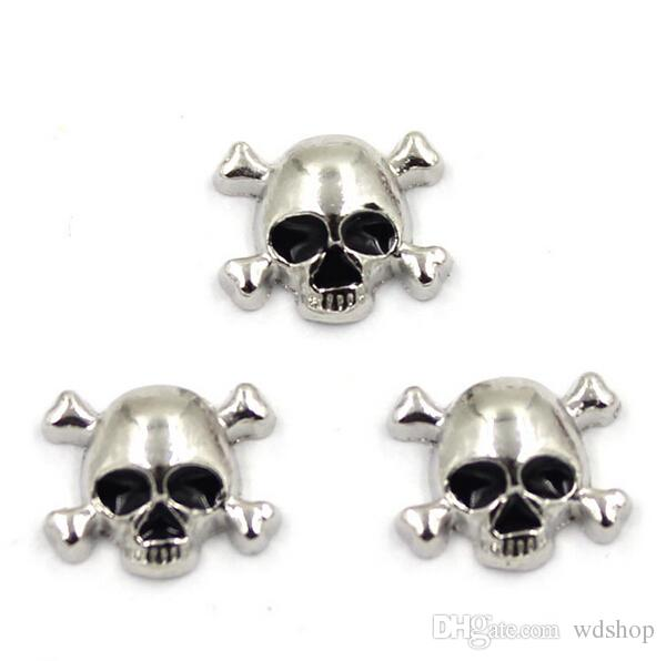 Skull/Crown/Angel Wings Floating Lockets Charm Fit DIY Floating Locket Pendant Necklace For Jewelry Making
