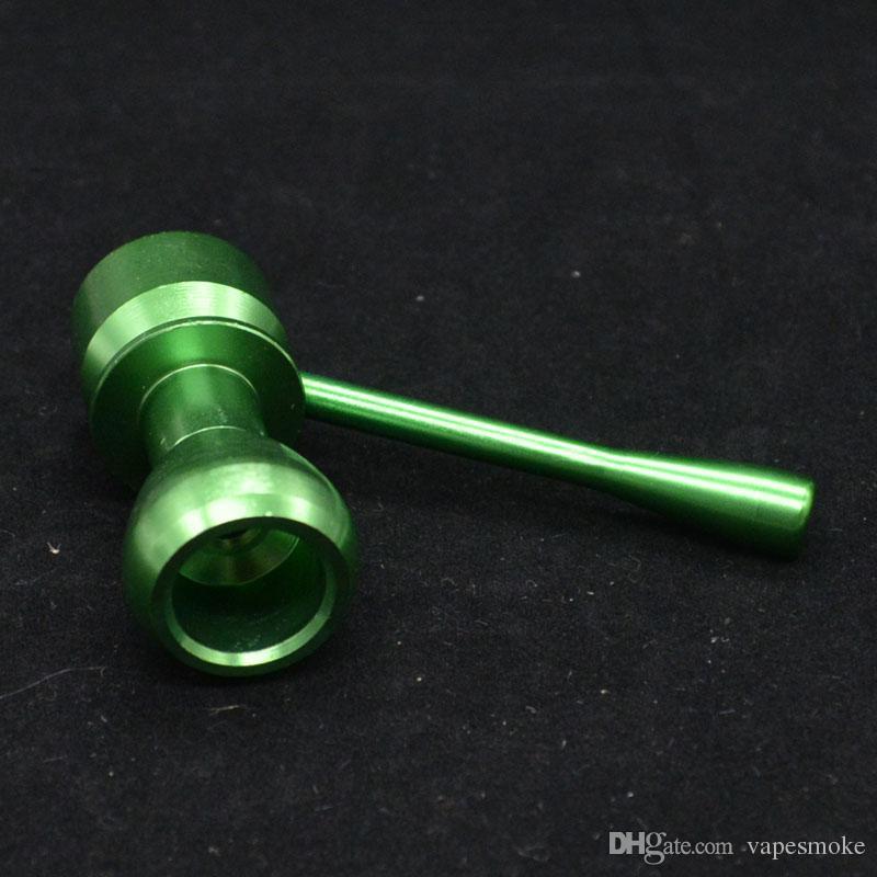 Tubo de alumínio boutique de estilo de comércio exterior quente O tubo de metal tubos de metal também oferecem tubulação de água de vidro bong bongs moedor