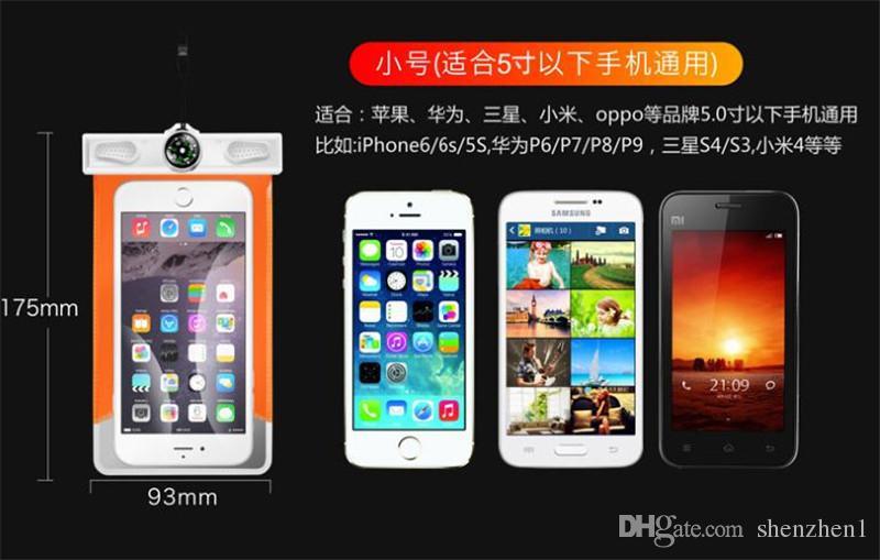 Su geçirmez iphone 7 6 kılıf Evrensel Kılıfı Çanta Kılıf Dalış durumda samsung S7 kenar NOT 7 cep telefonu Için su geçirmez çanta kılıf SCA183