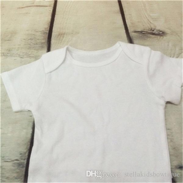 Absolutamente Branco Bodysuit Do Bebê, Apenas Liso Branco Unisex Meninas Recém-nascidos Menino Roupa, Roupas Infantis Do Bebê, Toddler da criança