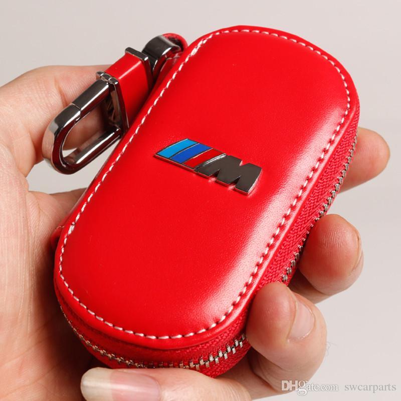 Porte-clés de voiture emblème en cuir véritable M performance bmw E21 E30 E36 E46 E90 E91 E93 F30 X3 X5 X6 3Séries 5Séries