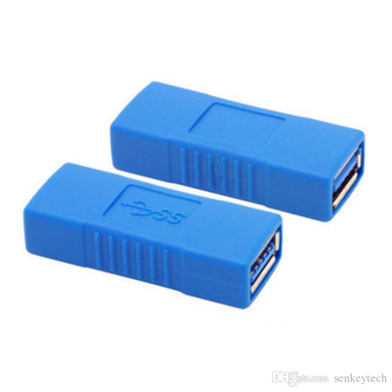 Siyah / Mavi Renk yüksek hızlı USB 3.0 dişi adaptör konnektörüne AF / AF opp torba perakende paketi ile USB uzatma kablosu çoğaltıcı