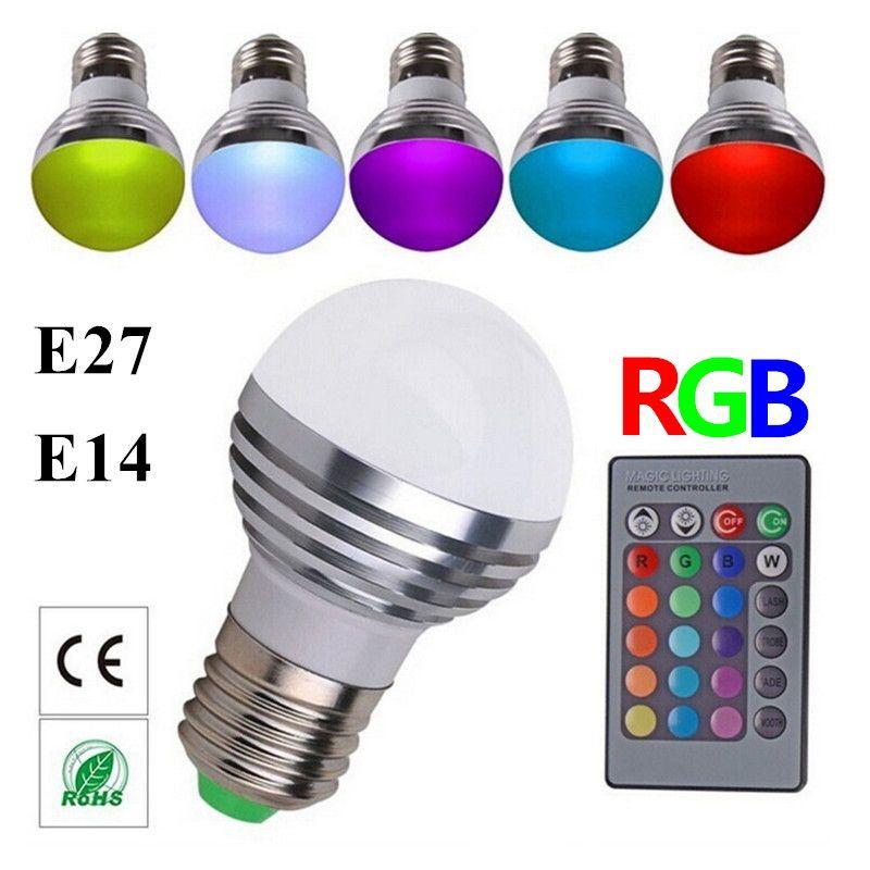 2017 wholesale multicolor e27 e14 led rgb bulb lamp ac110v 220v led rgb spot light dimmable. Black Bedroom Furniture Sets. Home Design Ideas
