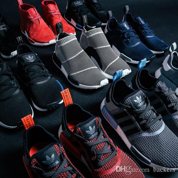 Compre Originals Nmd Adidas Originals Compre Runner Pk Negro Blanco Hombres Mujeres 39feb1