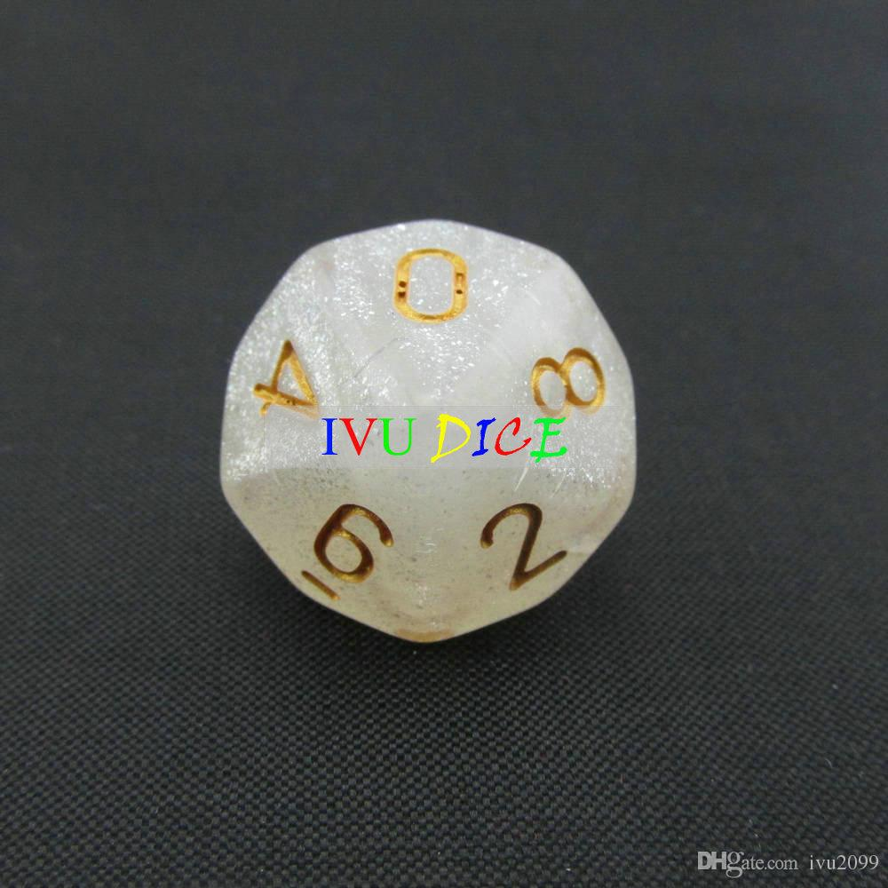 10 sided 0-9 DND D10 Table BOARD GAME Dungeons&Dragons Magic 6 six Colors bosons Party Children dices IVU