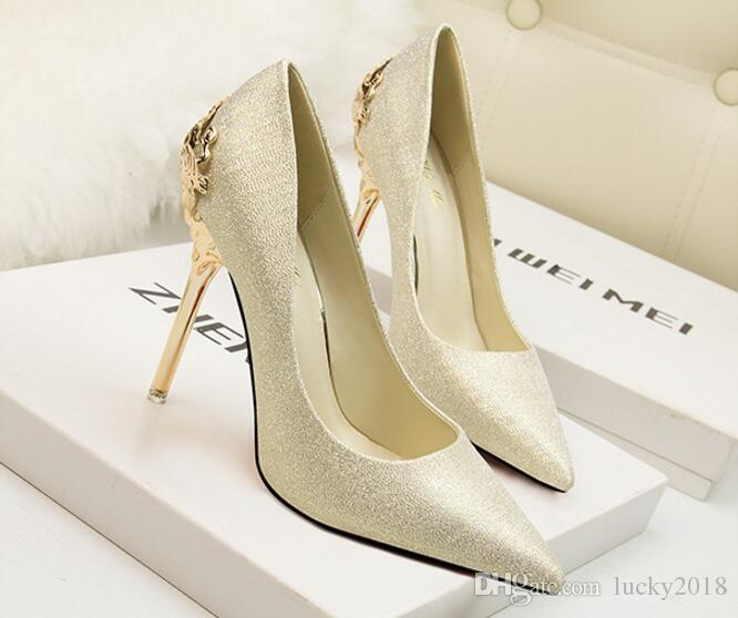 3521551c9abf Woman Shoes 2018 New Fashion Girls Sexy 10cm Bottom High Heels Printed  Multi Colors Stilettos Wedding Shoes Scholl Shoes Silver High Heels From  Lucky2018